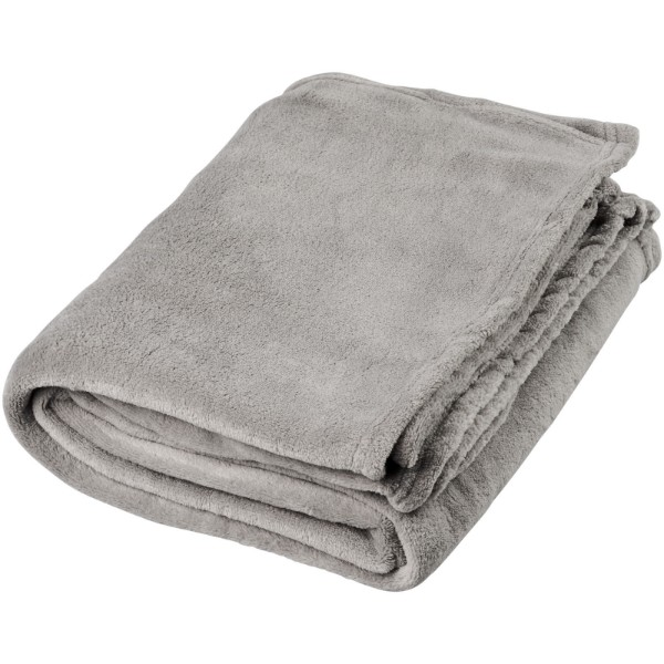 Bay extra soft coral fleece plaid blanket - Grey
