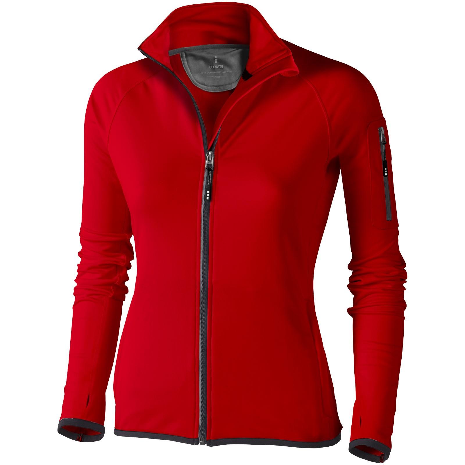 Mani power fleece full zip ladies jacket - Red / XL