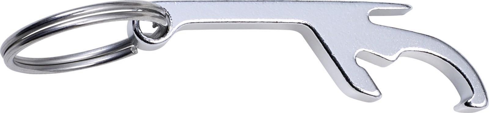 Aluminium 3-in-1 key holder - Silver
