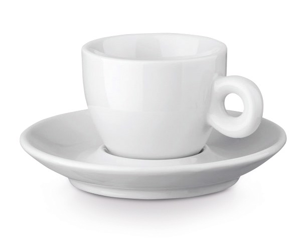 PRESSO. Φλιτζάνι καφέ και πιατάκι Κεραμική