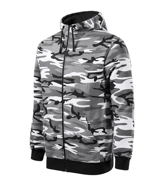 Mikina pánská Malfini Camo Zipper - Camouflage Gray / 3XL