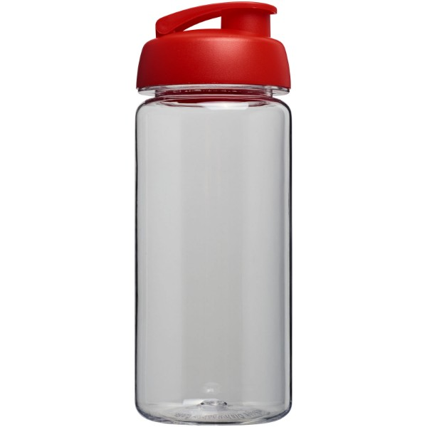 H2O Octave Tritan™ 600 ml flip lid sport bottle - Transparent / Red