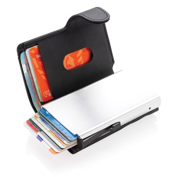 Aluminijast etui za kartice z RFID zaščito in denarnica iz PU plastike Standard