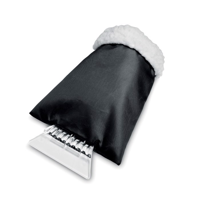 Skrobaczka do szyb z rękawicą Warmix - czarny