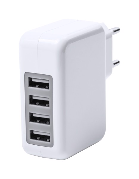 Usb Wall Charger Gregor - White / Grey
