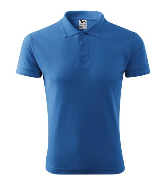 Polo Shirt men's Malfini Pique Polo - Azure Blue / XL