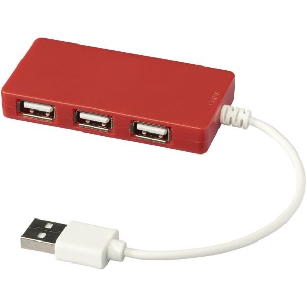 Brick 4-port USB hub - Red