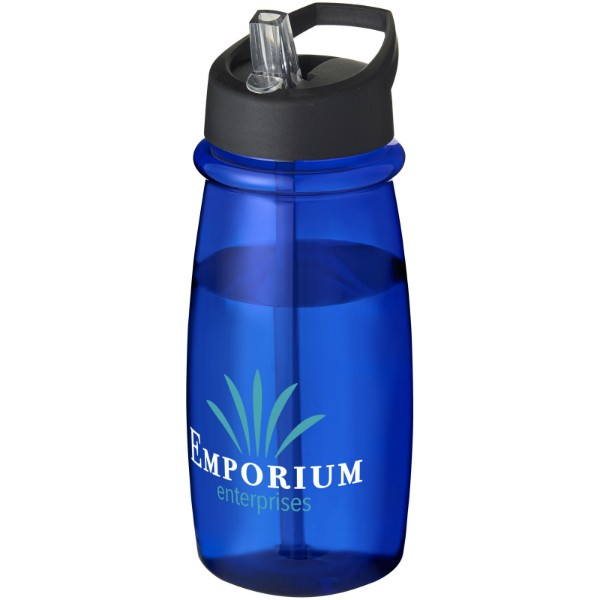 H2O Pulse 600 ml spout lid sport bottle - Blue / Solid black