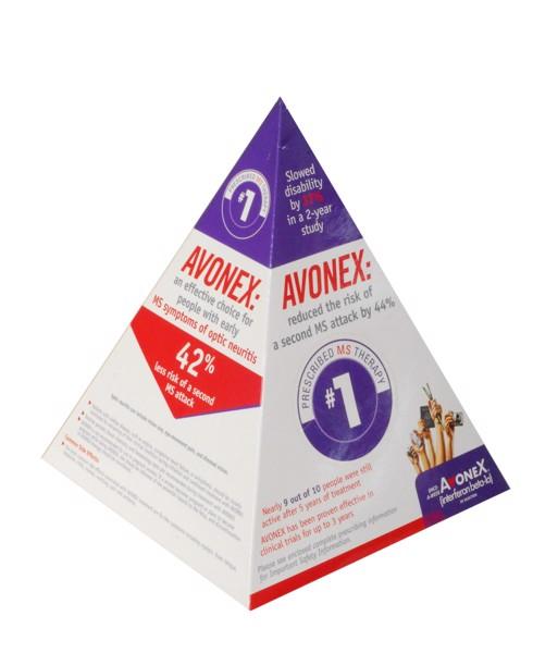 Reklamní papírové kapesníčky v krabičce (pyramida) s vlastním potiskem 17x14x14 cm