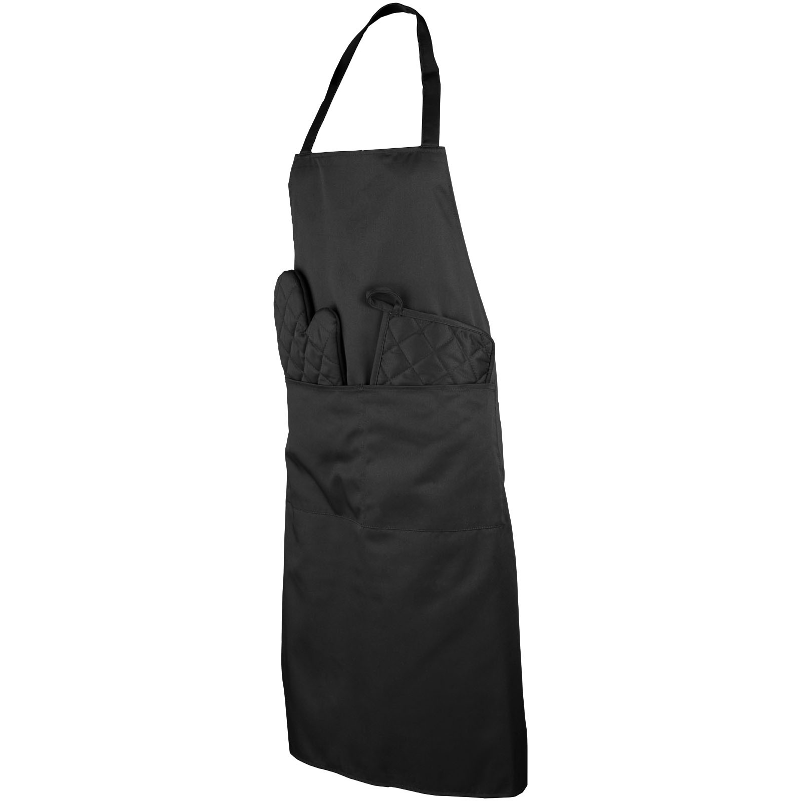 Dila 4-piece kitchen set in a pouch - Solid black