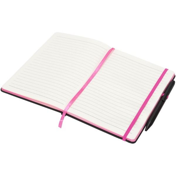 Zápisník Medium noir edge - Černá / Růžová