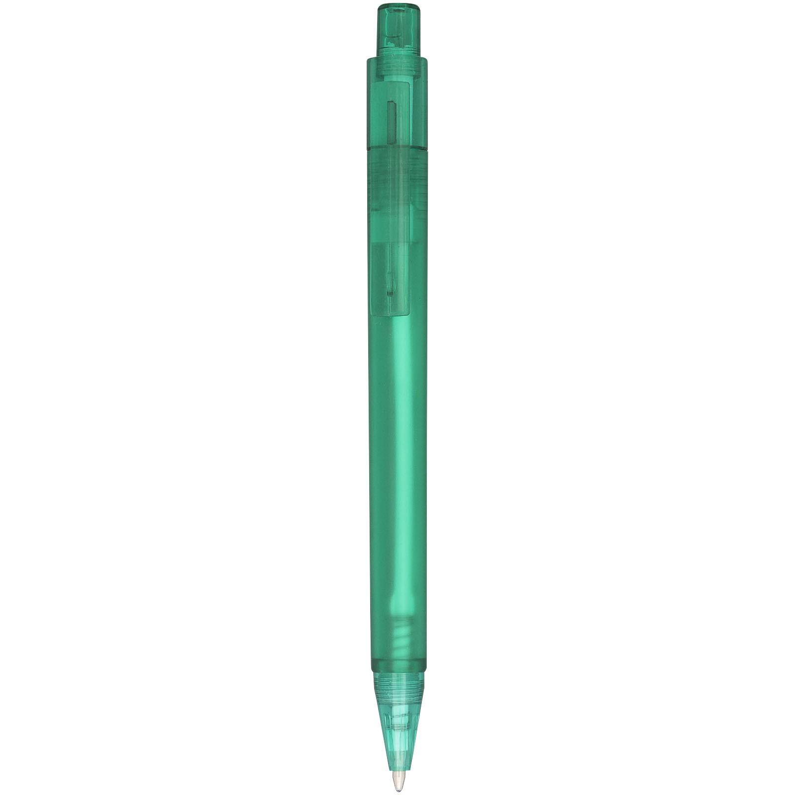 Kuličkové pero Calypso s efektem námrazy - Zelená S Efektem Námrazy