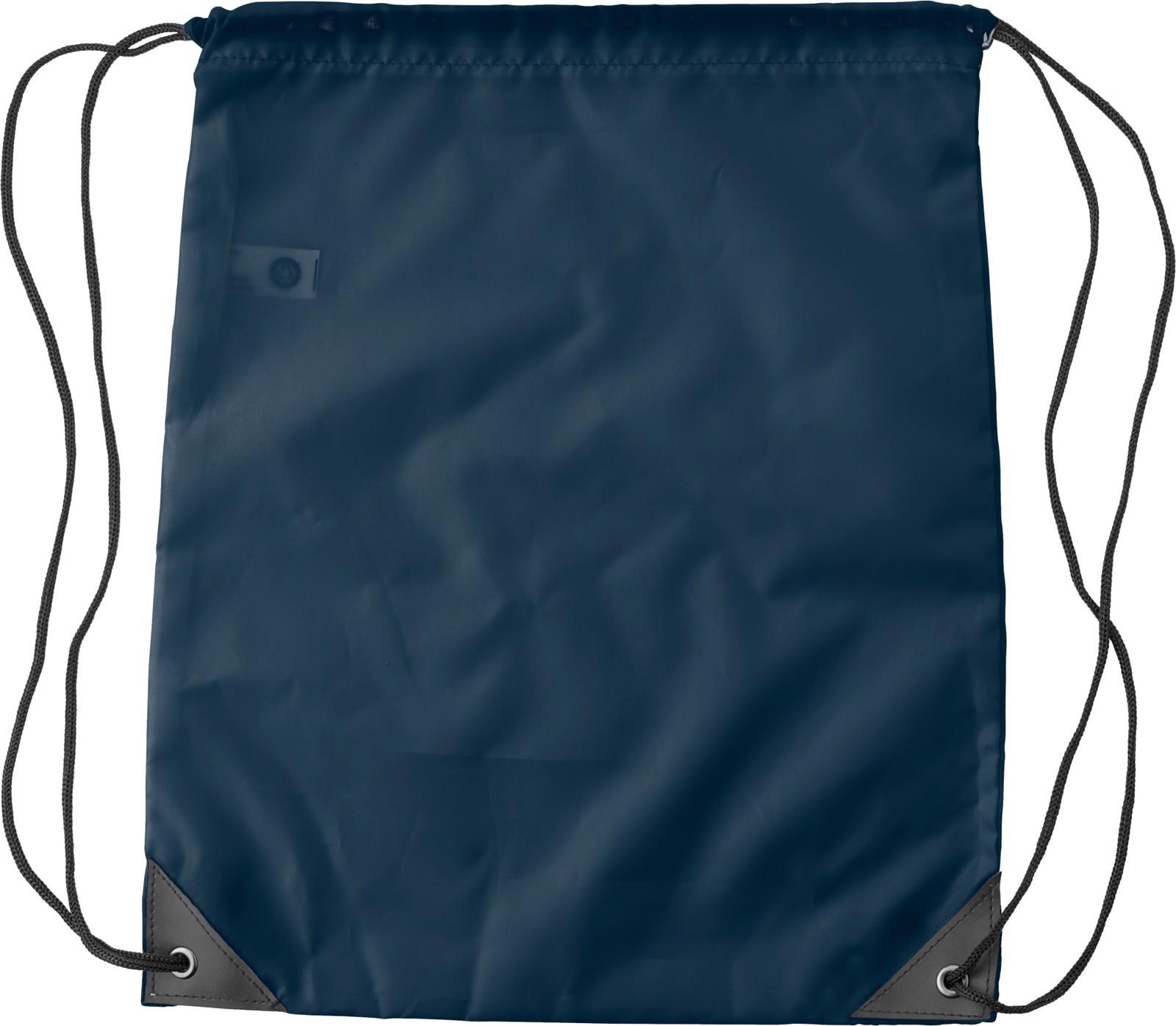 RPET polyester (190T) drawstring backpack - Blue