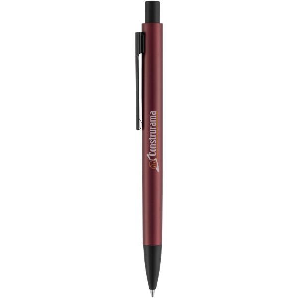 Hliníkové kuličkové pero Ardea - Červená s efektem námrazy