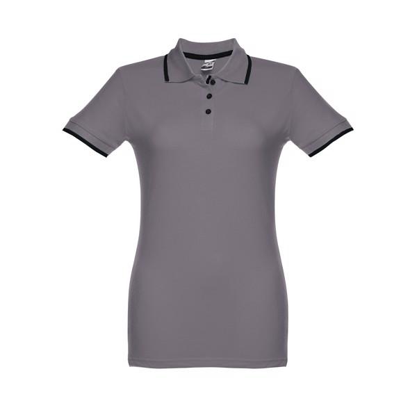 ROME WOMEN. Γυναικεία πόλο μπλούζα slimfit - Γκρί / M