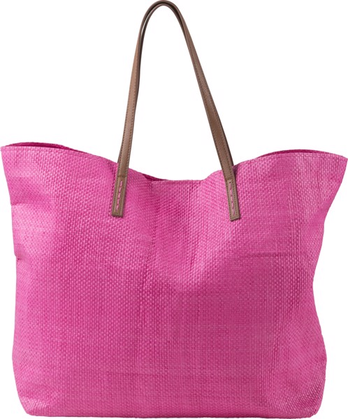 Laminated nonwoven (180 gr/m²) beach bag - Pink