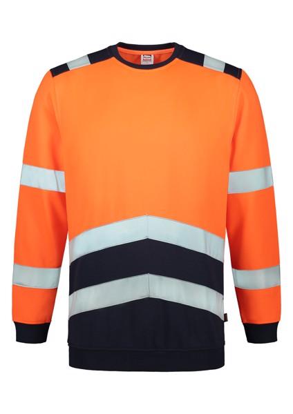 Mikina unisex Tricorp Sweater High Vis Bicolor - Fluorescenční Oranžová / S