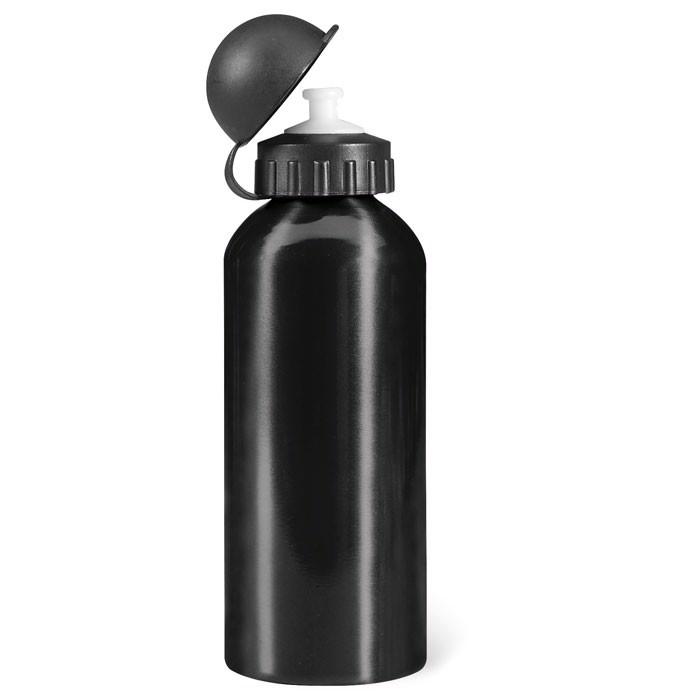 Metal drinking bottle (600 ml) Biscing - Black