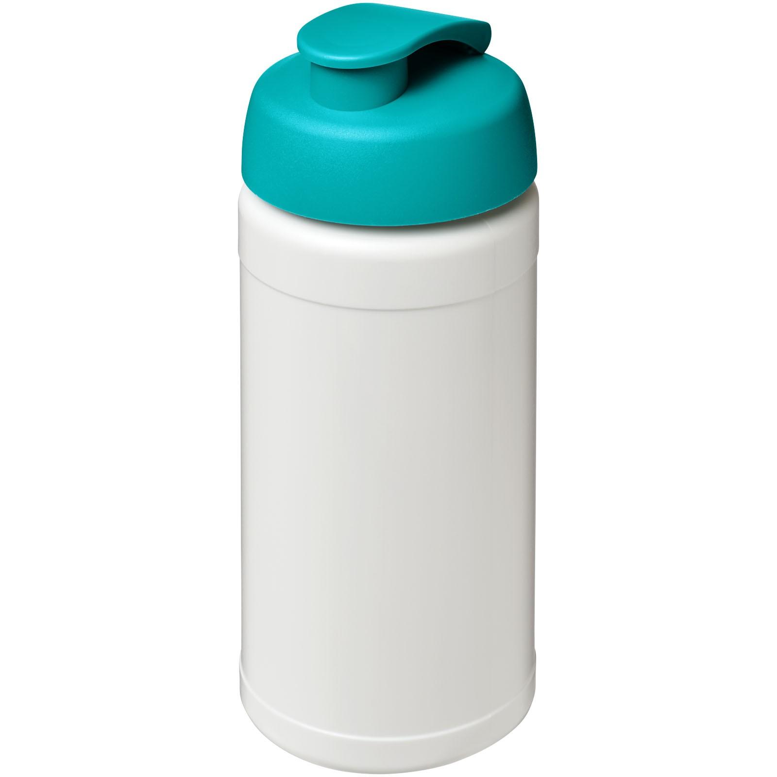 Sportovní láhev s vyklápěcím víčkem Baseline® Plus 500 ml - Bílá / Tyrkysová