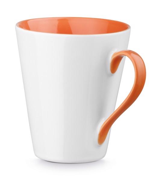 COLBY. Ceramic mug 320 ml - Orange