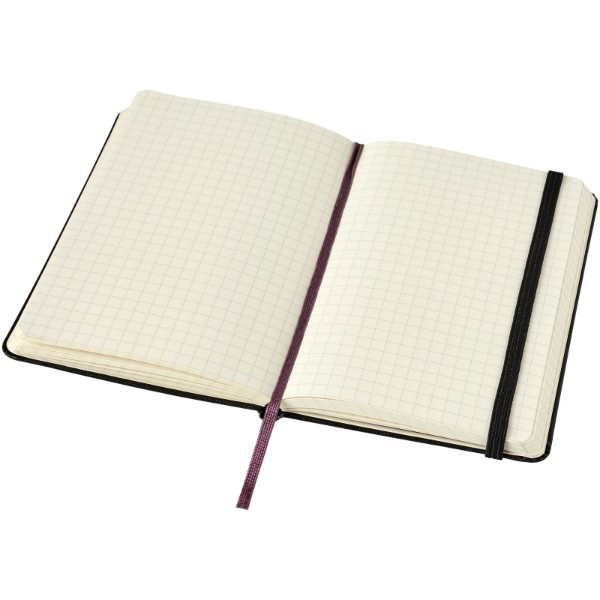 Classic PK hard cover notebook - squared - Solid black