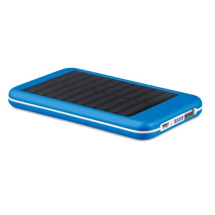 Solární power banka 4000 mAh Solarflat - royal blue