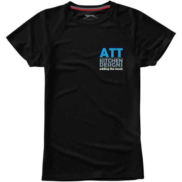 Dámské triko Serve s krátkým rukávem, s povrchovou úpravou - Černá / XXL