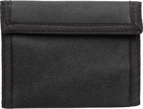 Polyester (190T + 600D) wallet - Black