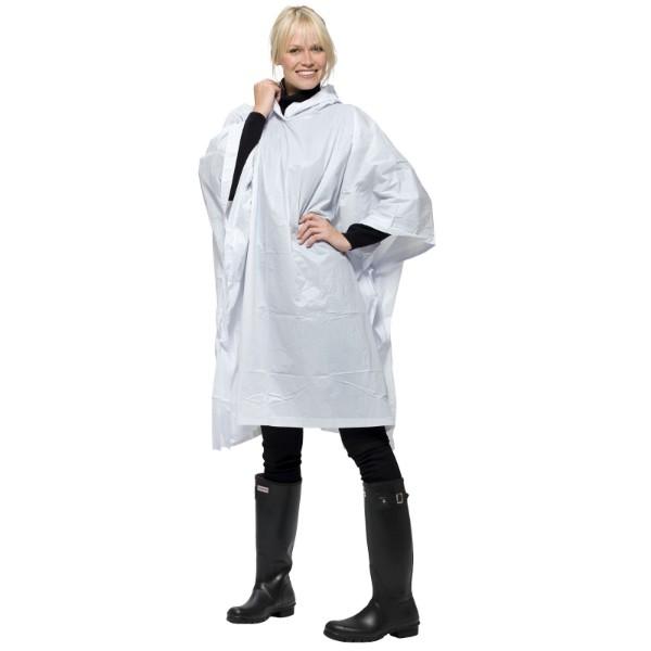 Skládací pláštěnka v sáčku Paulus - Bílá