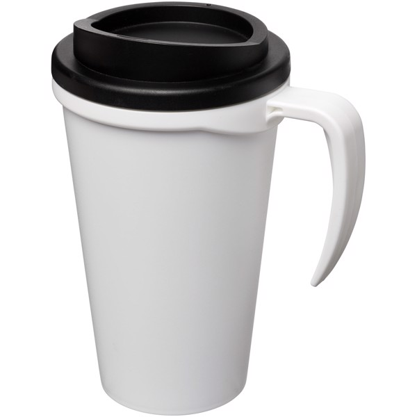 Americano® Grande 350 ml insulated mug - White / Solid black