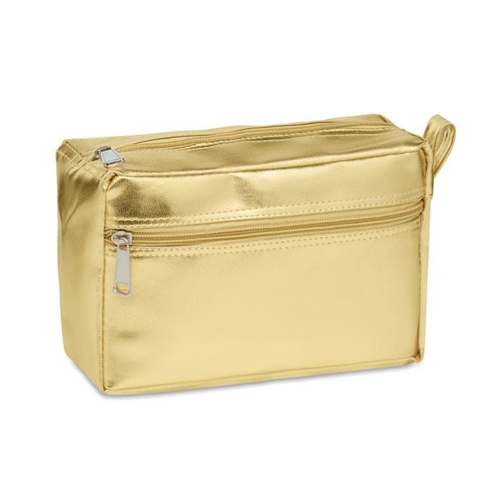 Cosmetic bag in shiny PVC Silene - Gold