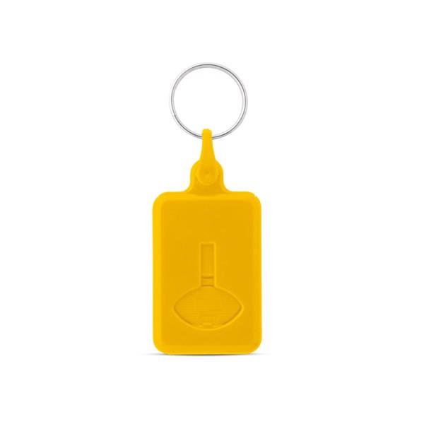 BUS. Μπρελόκ σε σχήμα νομίσματος για το καρότσι του σούπερ μάρκετ - Κίτρινο
