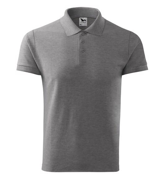 Polo Shirt Gents Malfini Cotton - Dark Gray Melange / 2XL