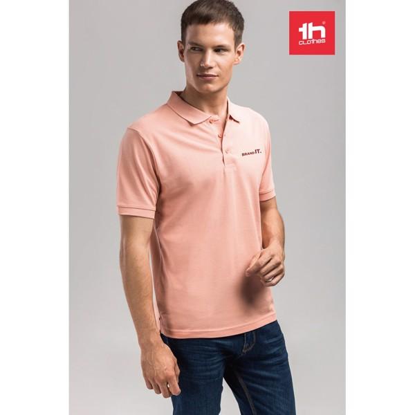 ADAM. Ανδρική πόλο μπλούζα - Σομόν / L