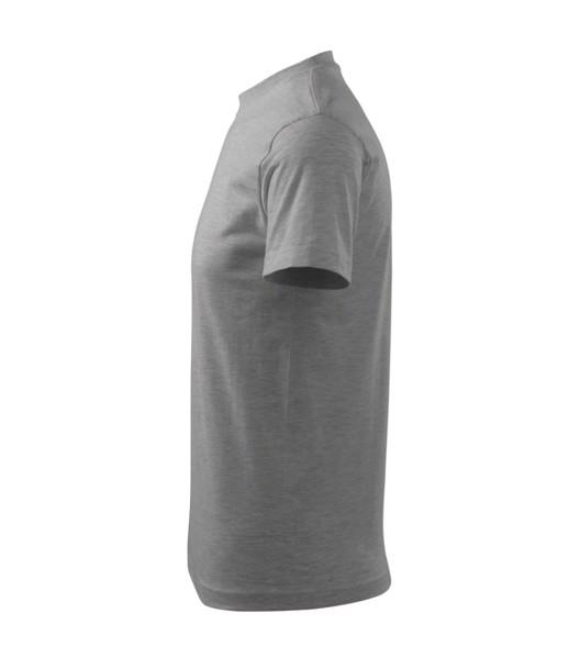 T-shirt unisex Malfini Classic - Dark Gray Melange / L