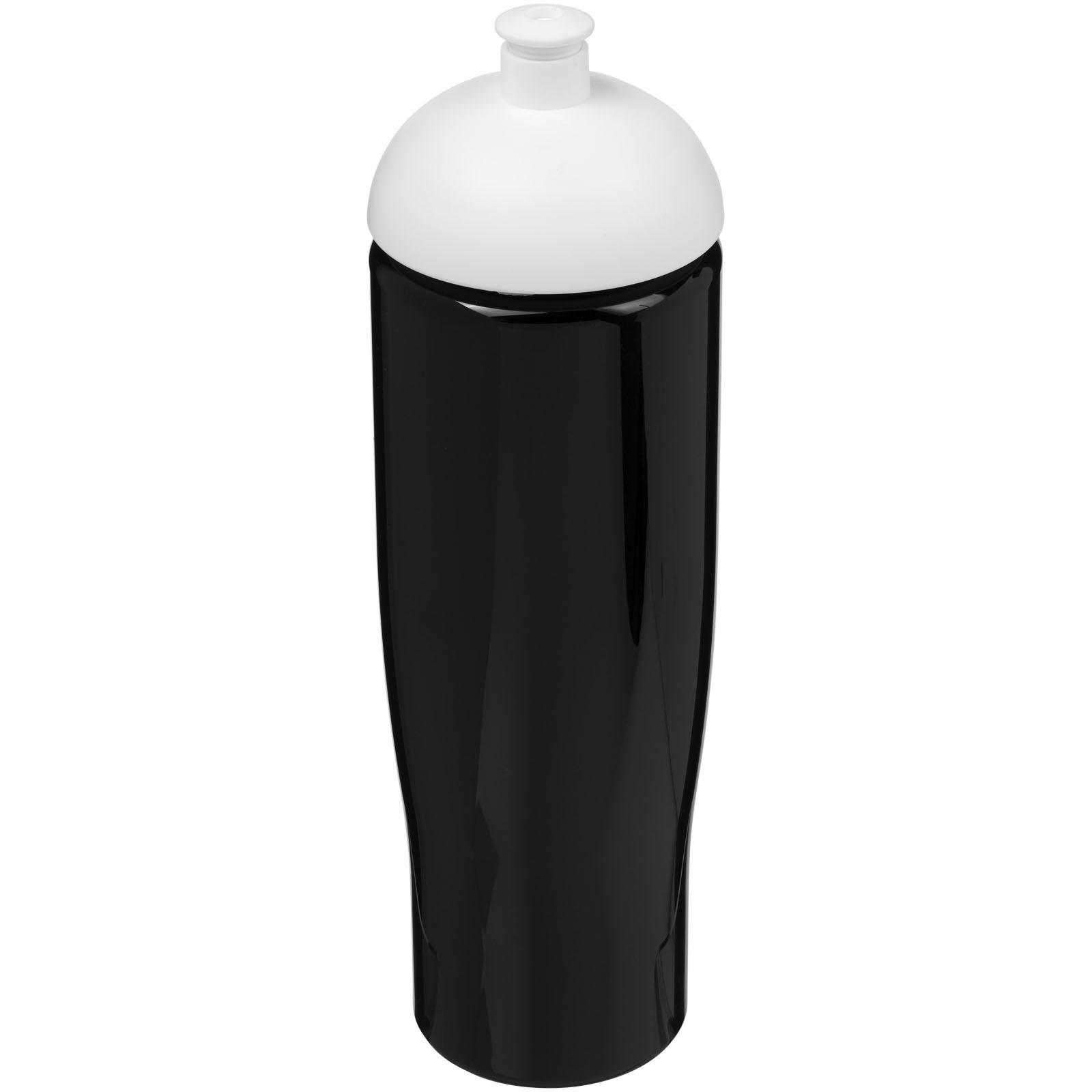 Sportovní láhev s kupolovitým víčkem H2O Tempo® 700 ml - Černá / Bílá
