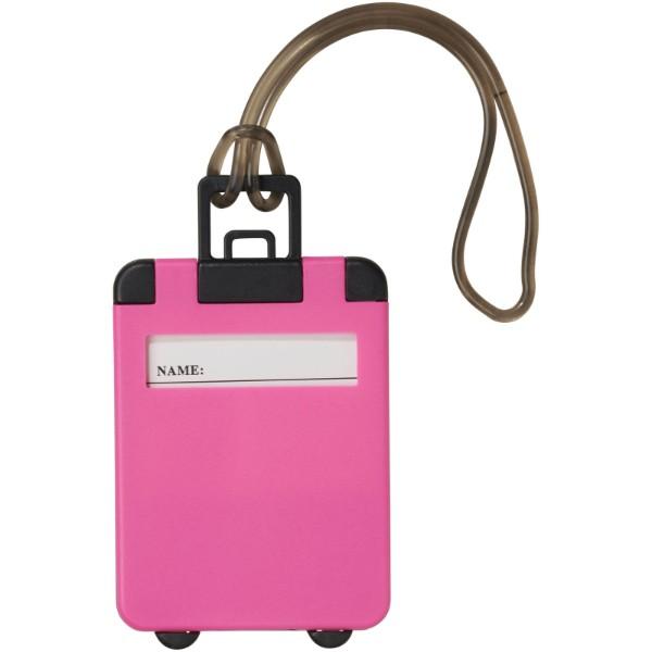 Zavazadlová visačka Taggy - Neonově Růžová