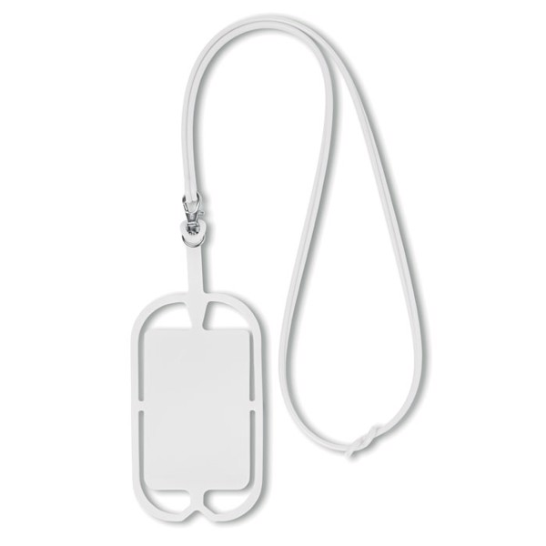 Silicone smartphone hanger Silihanger - White