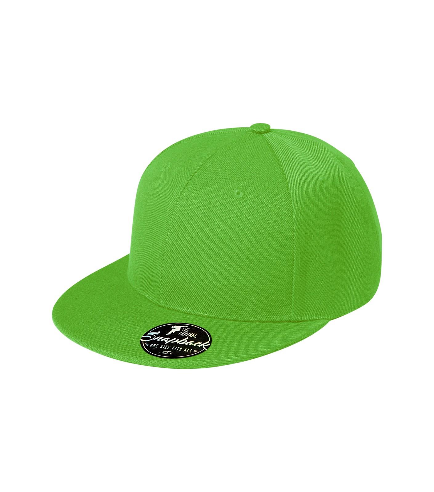 Čepice unisex Malfini Rap 6P - Apple Green / nastavitelná