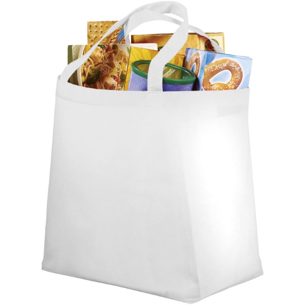 Maryville non-woven shopping tote bag - White