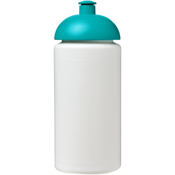 Sportovní láhev s kupolovitým víčkem Baseline® Plus grip 500 ml - Bílá / Tyrkysová