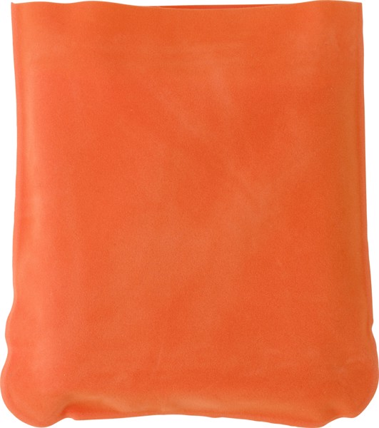 Velour travel cushion - Orange