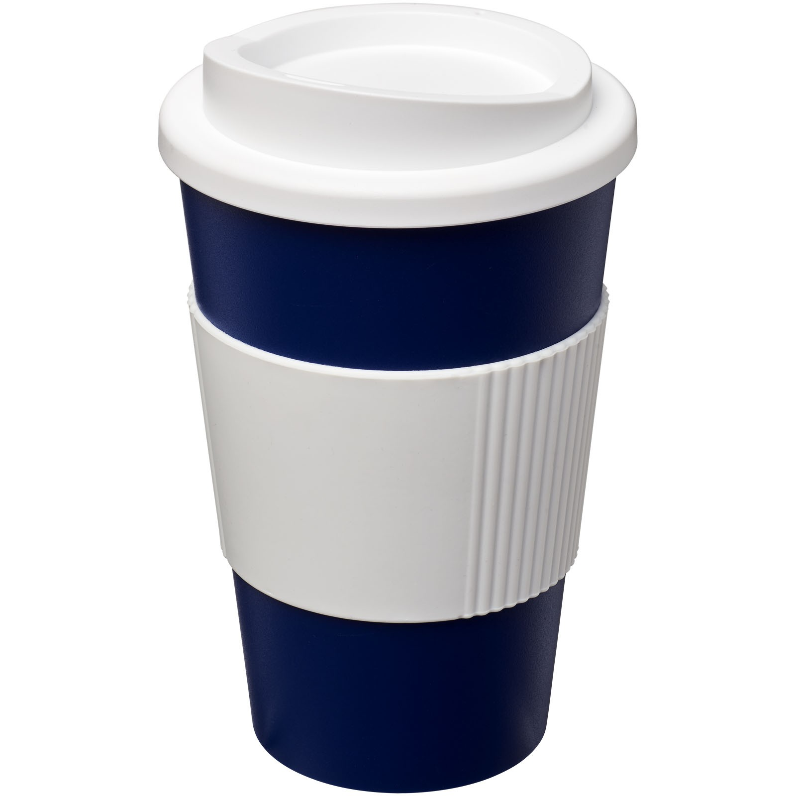 Americano® 350 ml insulated tumbler with grip - Blue / White