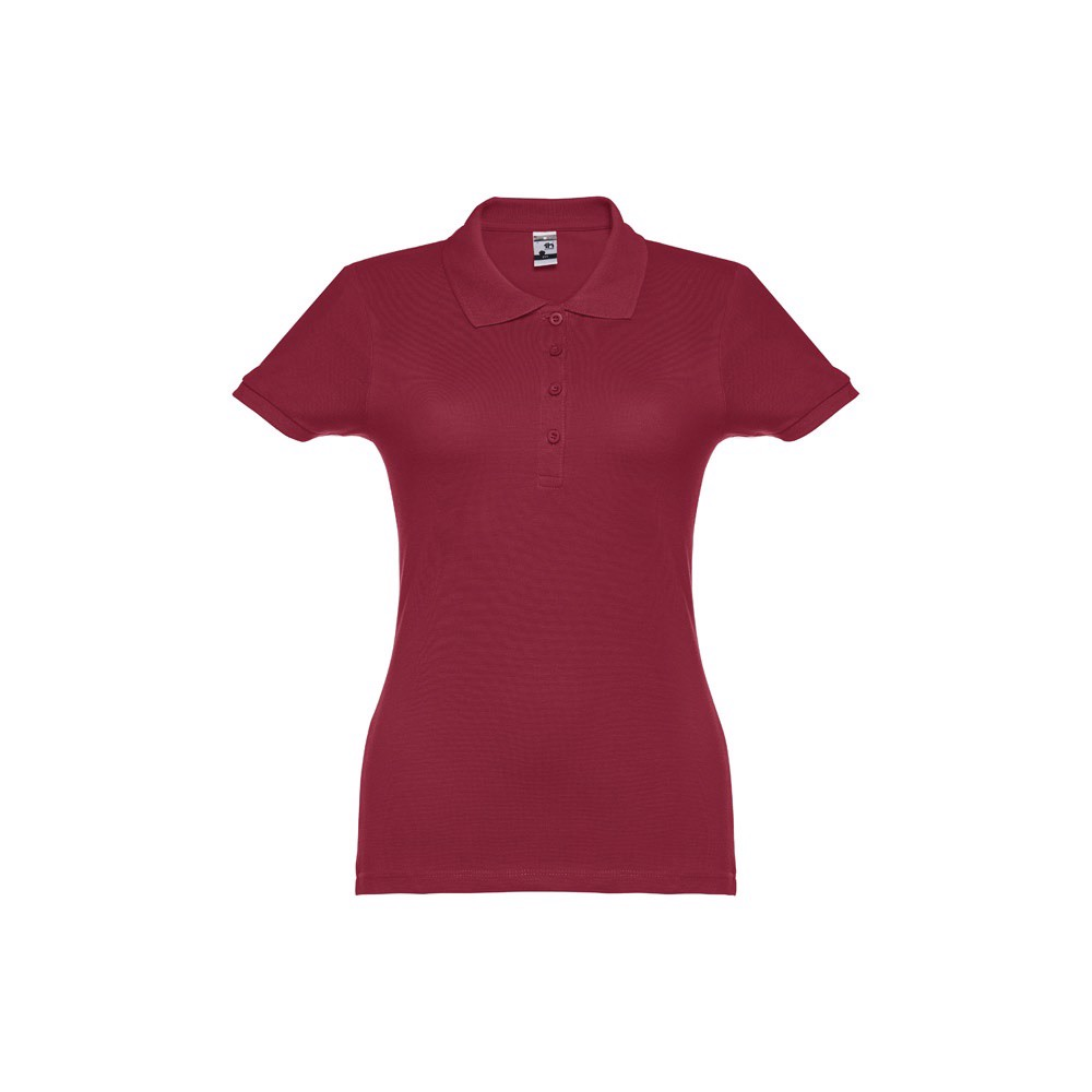 EVE. Γυναικεία πόλο μπλούζα - Βουργουνδί / M