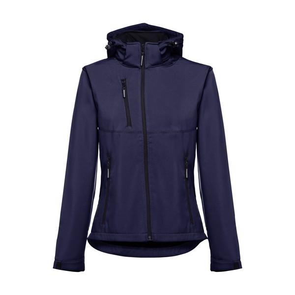 THC ZAGREB WOMEN. Dámská softshellová bunda se snímatelnou kapucí - Námořnická Modrá / XXL