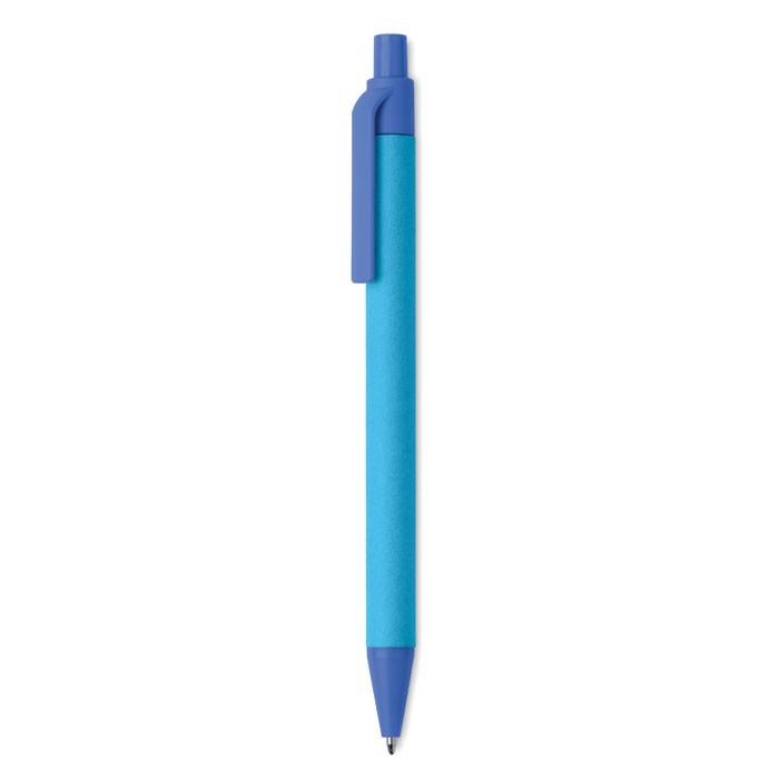 Bolígrafo de pulsador PLA Cartoon Coloured - azul