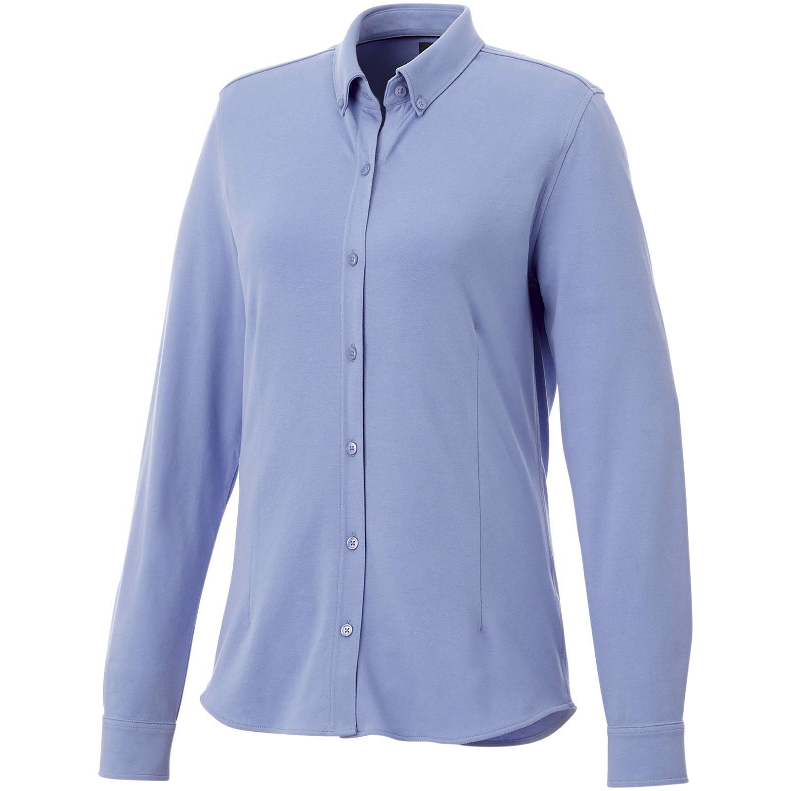 Bigelow long sleeve women's pique shirt - Light blue / L
