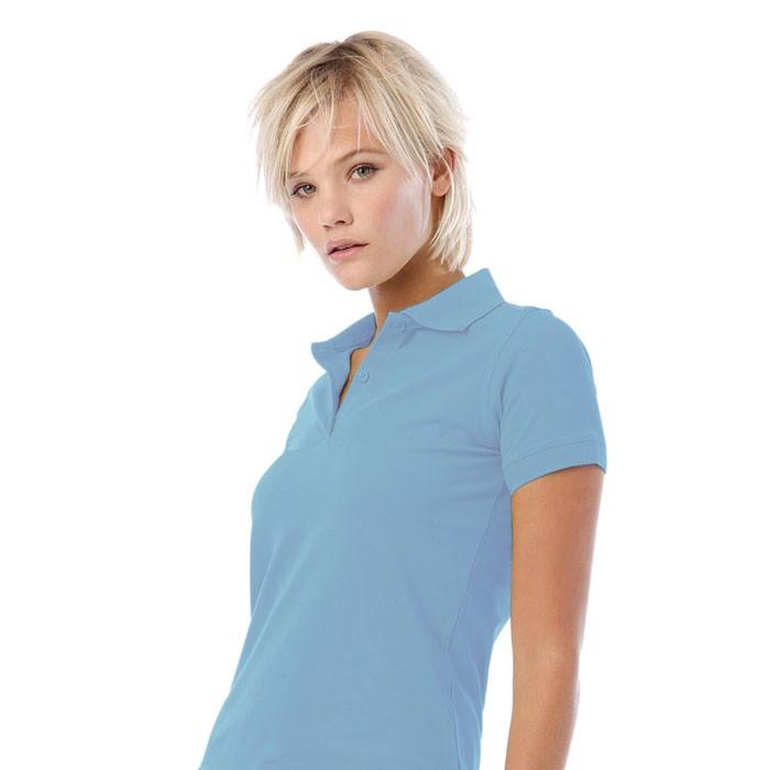 Damen Polo-Shirt 180 g/m2 Safran Pure Women Polo Pw455 - Sky Blue / XS