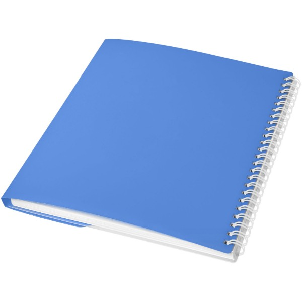 Poznámkový blok Curve A6 - Modrá s efektem námrazy / Bílá