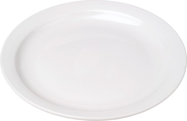 Porcelain plate with 23,5 cm diameter